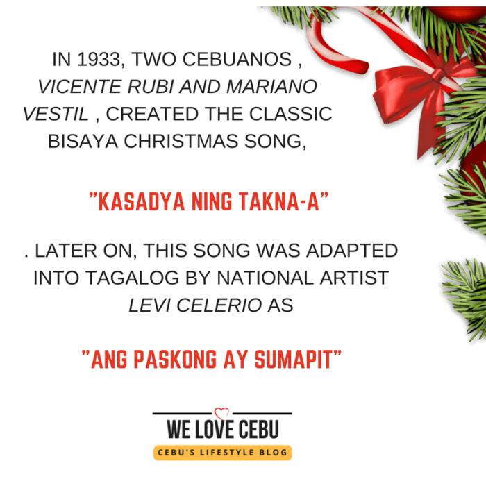 'KASADYA (Ning Takna-a)!' is The Original, Not 'Ang Pasko Ay Sumapit'!