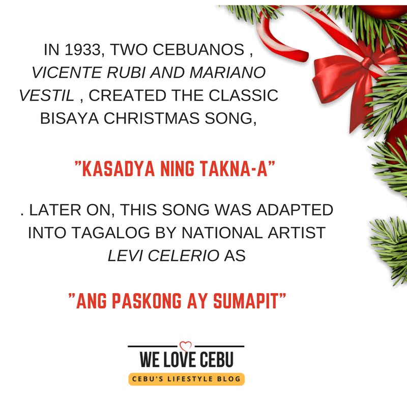 visayan christmas song 39 kasadya 39 is the original not 39 ang pasko ay sumapit 39 we love cebu. Black Bedroom Furniture Sets. Home Design Ideas