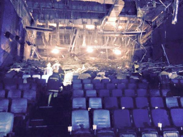 Ayala Center Cebu Cinema 5 Collapsed Ceiling