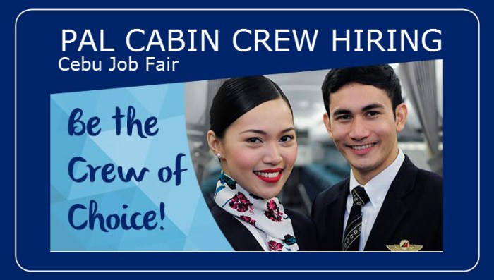 Job Hiring in Cebu: PAL Express Cabin Crew Recruitment Fair this February 2016