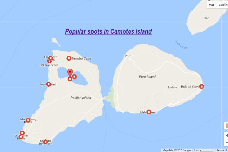 camotes island popular spots