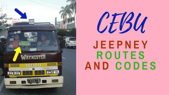 CEBU JEEPNEY ROUTES AND CODES