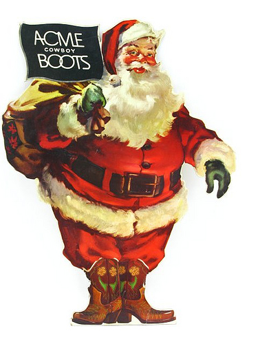 Acme Boots Santa We Love Cowboy Boots