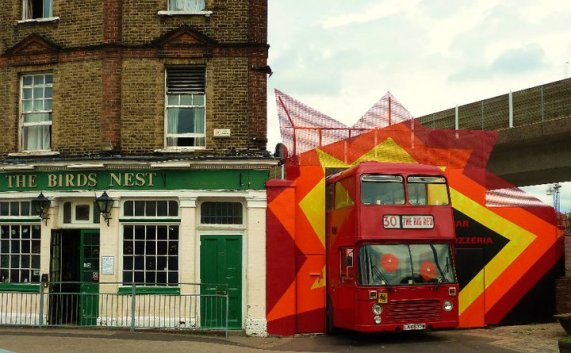 The Big Red Pizza Bus | Deptford | London | Front | We Love Food, It's All We Eat