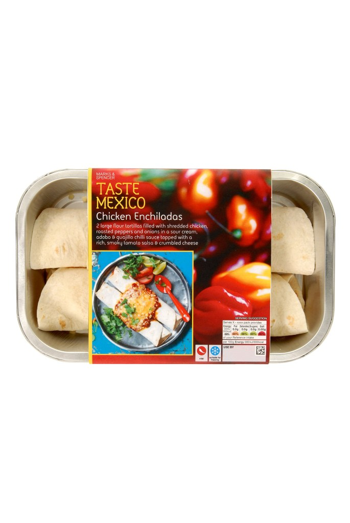 M&S TASTE RANGE REVIEW | WE LOVE FOOD, IT'S ALL WE EAT | CHICKEN ENCHILADOS