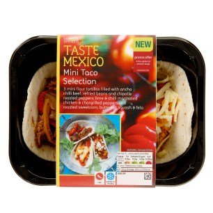 M&S TASTE RANGE REVIEW | WE LOVE FOOD, IT'S ALL WE EAT | MINI TACO SELECTION