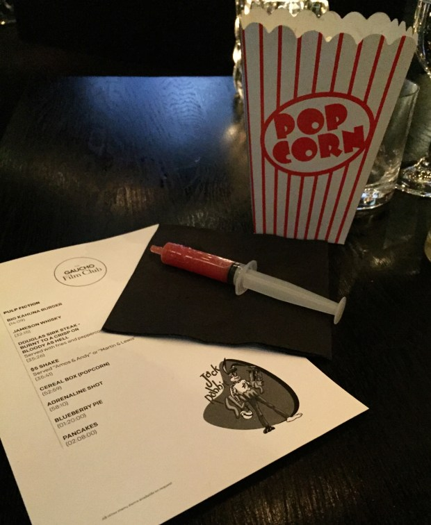 GAUCHO FILM CLUB | GAUCHO | STEAK | PULP FICTION | WE LOVE FOOD, IT'S ALL WE EAT