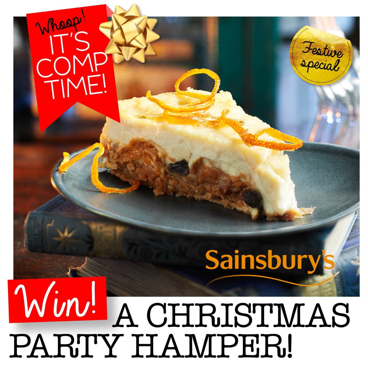 WIN A Sainsbury's Christmas Party Hamper!