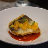 Gurnard, red pepper, clementine