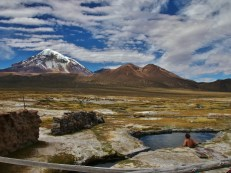 Hotsprings in the shadow of Sajama