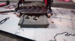 This shows how the Spark splitboard specific bindings slide onto the pucks.