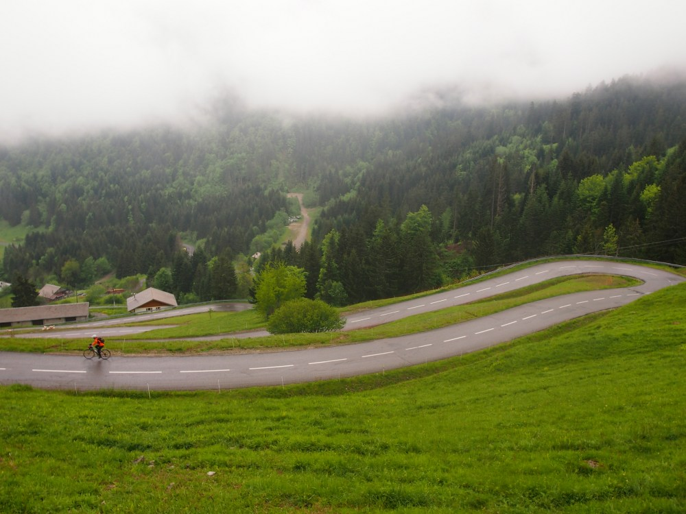 A rainy morning on Col du Corbier
