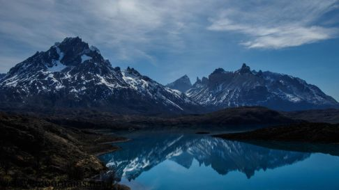 Reflections on a clear Patagonian day