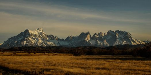 Looking back to Torres del Paine