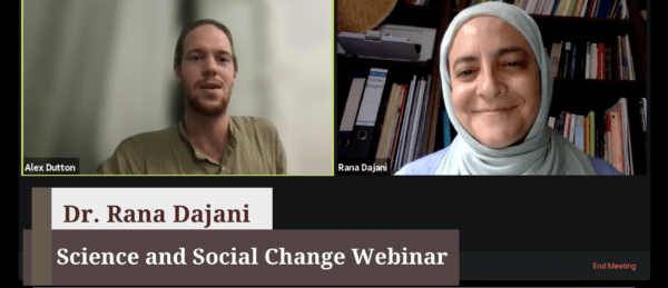 Science and Social Change Webinar with Dr. Rana Dajani