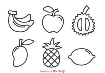 Fruits Outline Icons 146979 WeLoveSoLo
