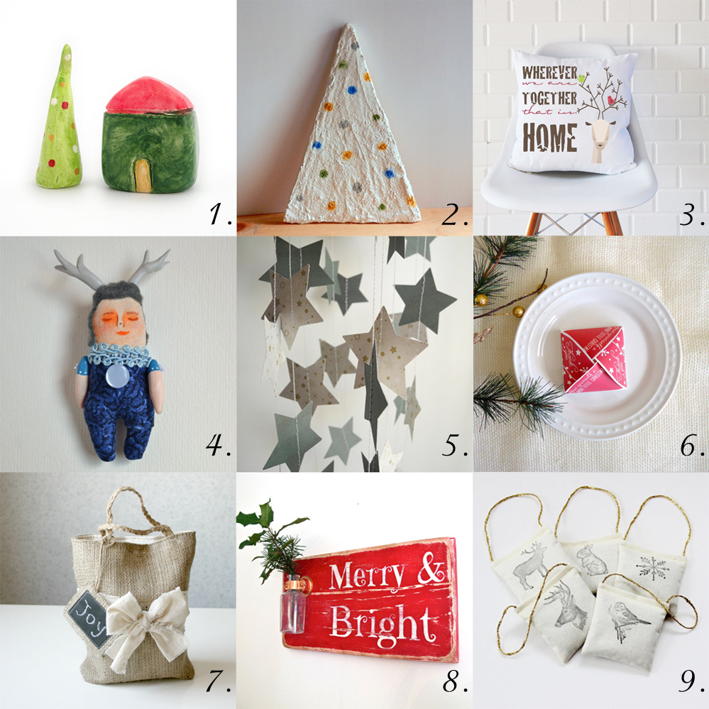 9 beautiful handmade decorations for Christmas