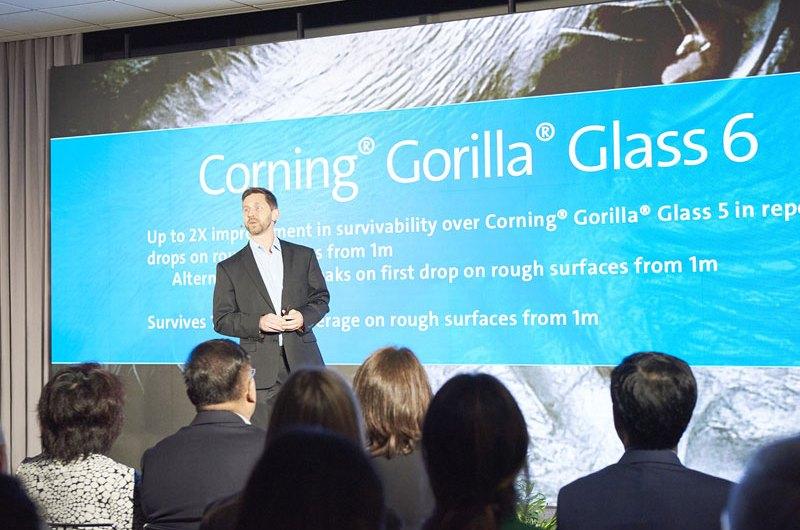 mobile phone improved Gorilla Glass