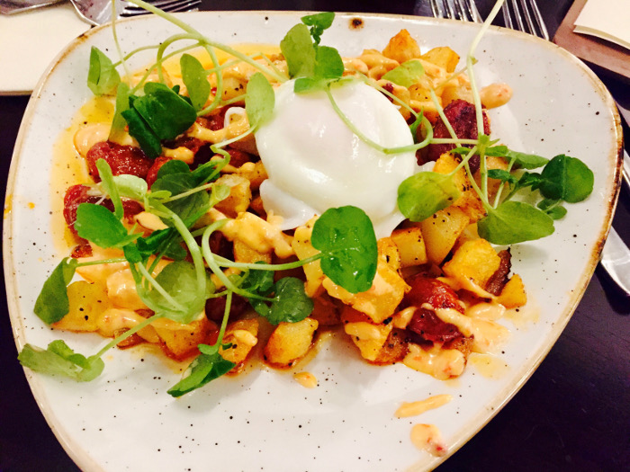 The Golden Mile Inn Chorizo and Egg Starter