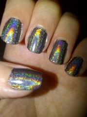 holographic polish nail