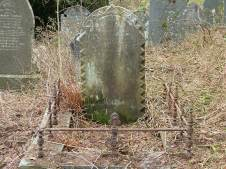 Grave of Captain W H Boundy of South Darren Mine (before)