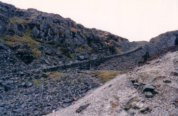Looking north east, up the Hafan Incline.