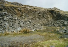 Old Quarry just south of the mine