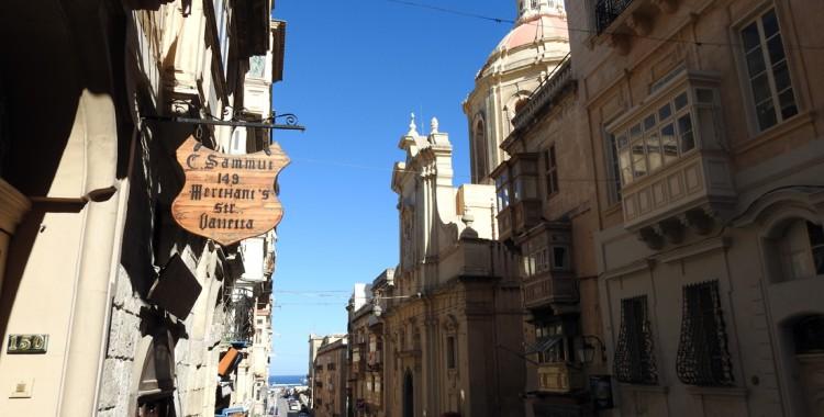 Straße Valletta