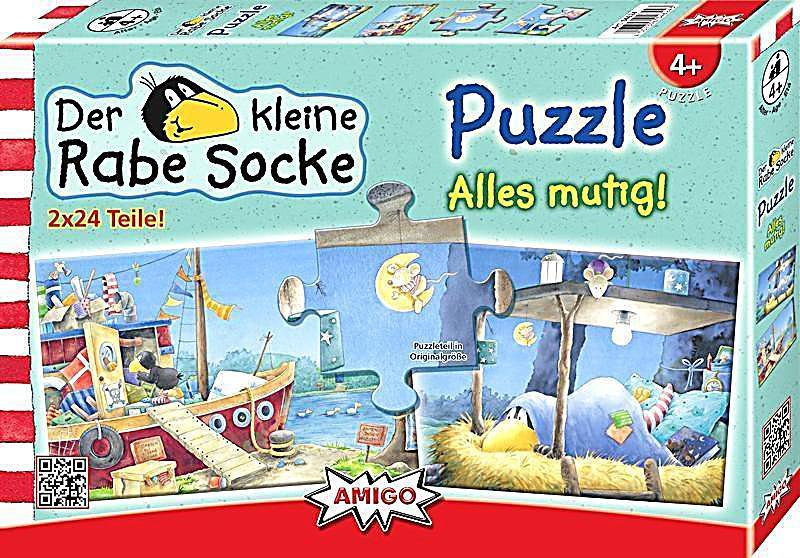 Kleiner Rabe Socke Alles mutig! Kinderpuzzle Weltbild