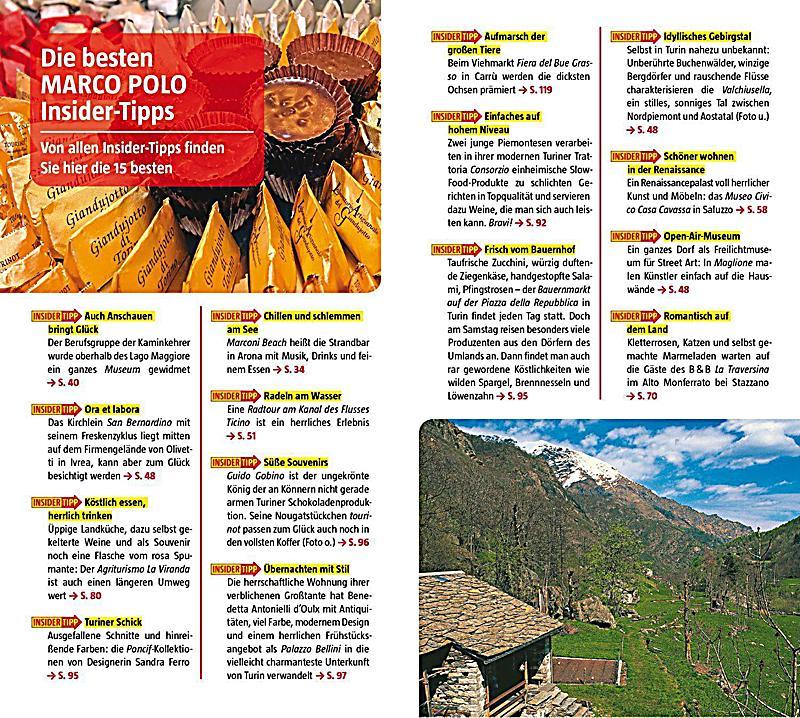 MARCO POLO Reisefhrer Piemont Turin Buch portofrei