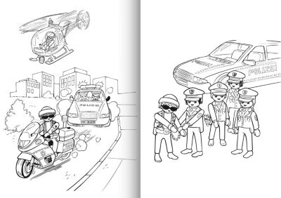 Playmobil Malvorlage Polizei   Coloring and Malvorlagan