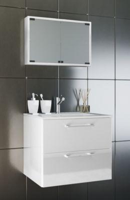 VCM Waschplatz Badmbel Badezimmer Komplett Set Waschtisch Waschbecken Spiegel Badblock Tenas