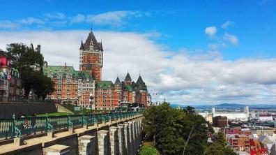 Eine Burg in Québecin Kanada