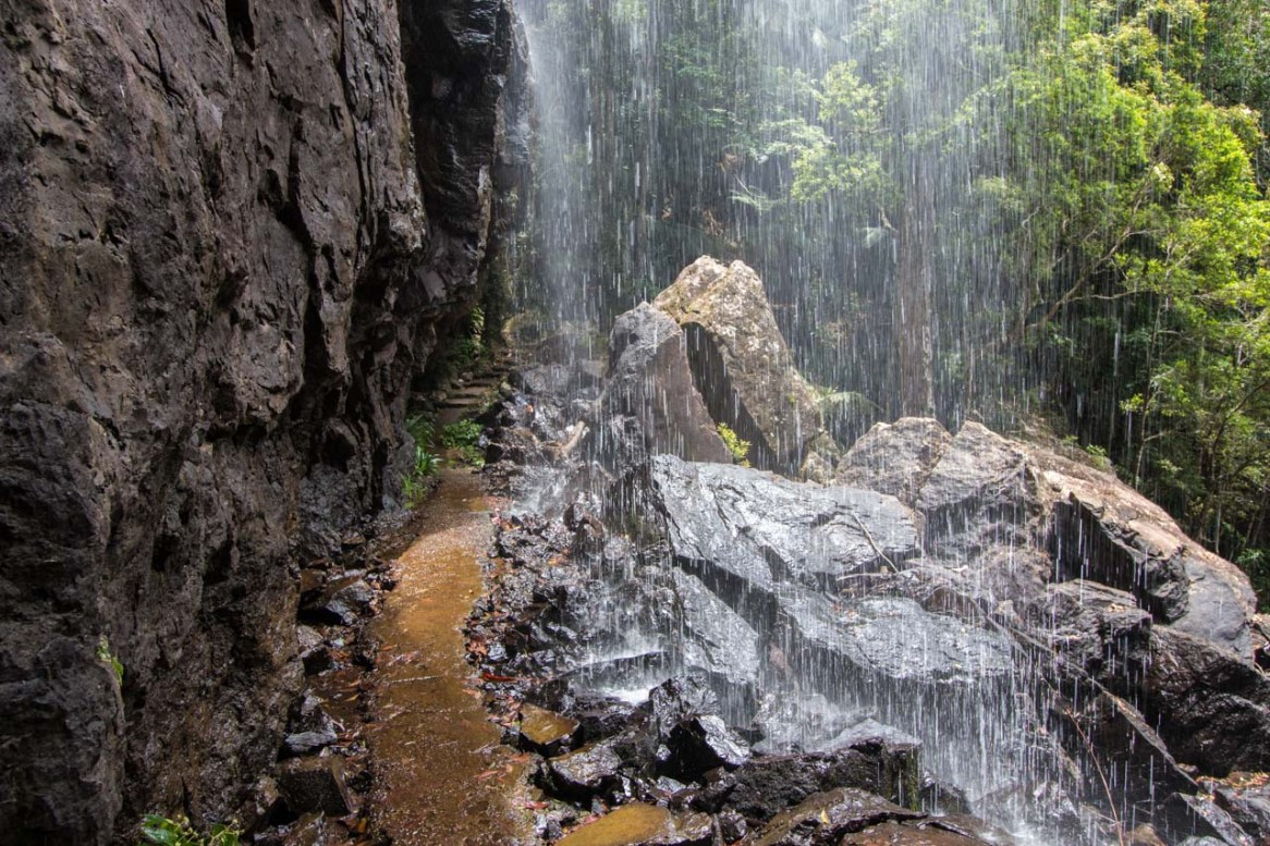 Hiking trail with shower