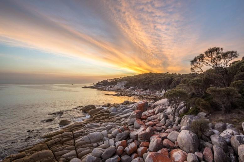 Sonnenaufgang über der Bay of Fires - 3