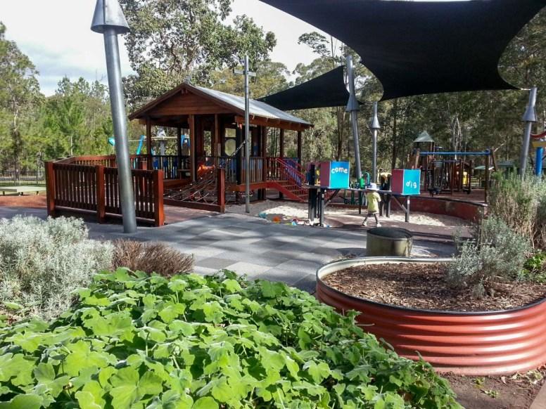 Playground with herb garden