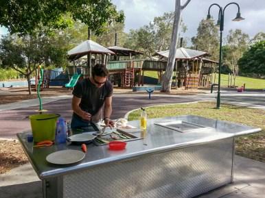 Amazing playground with super clean BBQs