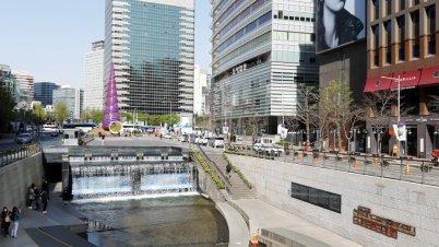 Cheonggye-Fluss, Seoul, Korea