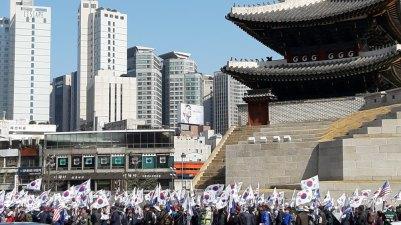 Demo in Seoul, Korea