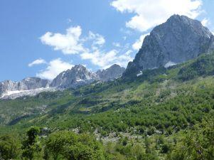 Für heute nicht erreicht - Theth hinter diesen Bergen.