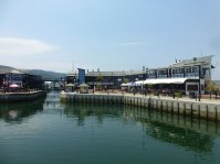 Die Mall von der Wasserseite