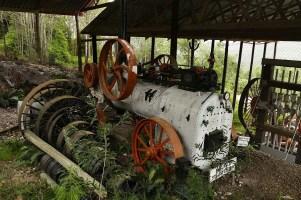 Diese alte Dampfmaschine verrichtete in einer Goldmine zwischen 1880 und 1910 ihren Dienst