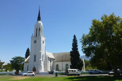 Wie viele Orte entlang der Weinstraße hat auch Worcester eine imposante Kirche...