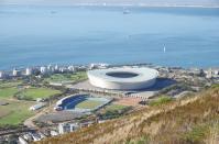 Das WM - Stadion vom Signal Hill fotografiert.