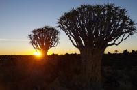 ... verwandelt sich bei Sonnenuntergang in eine Märchenwelt