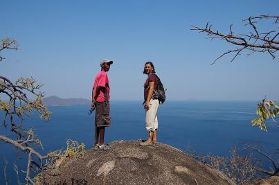 Willings führte uns zu den schönsten Aussichten hoch über dem Malawisee...