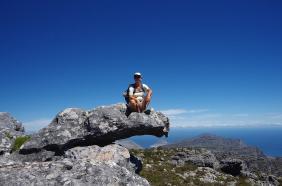 Ganz oben: Rast nach anstrengender Wanderung auf den Tafelberg.
