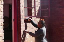 An Nelson Mandelas Haus in Soweto wird täglich ordentlich geputzt.