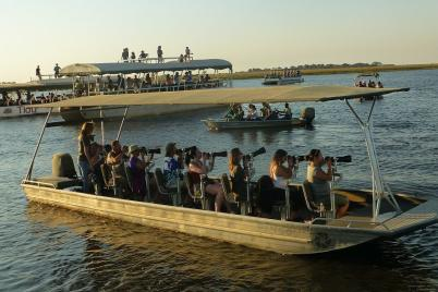Auf dem Chobe River wird scharf geschossen.