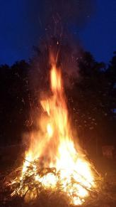 An diesem Feuer war keinem mehr kalt.